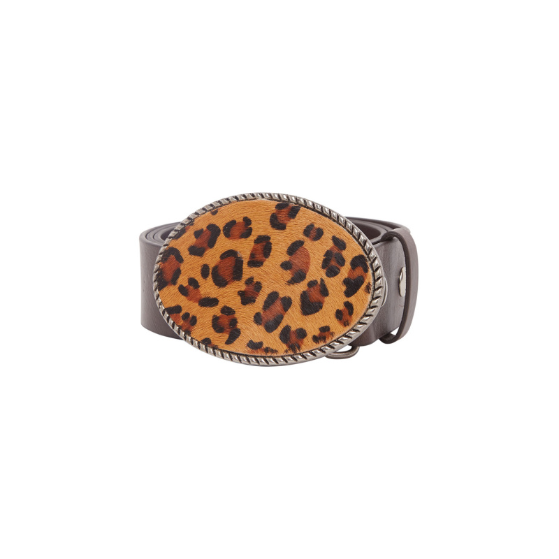 BELT WITH LEO BUCKLE