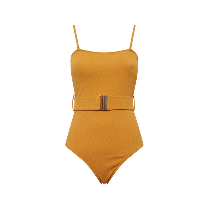 BELTED ONE-PIECE SWIMSUIT