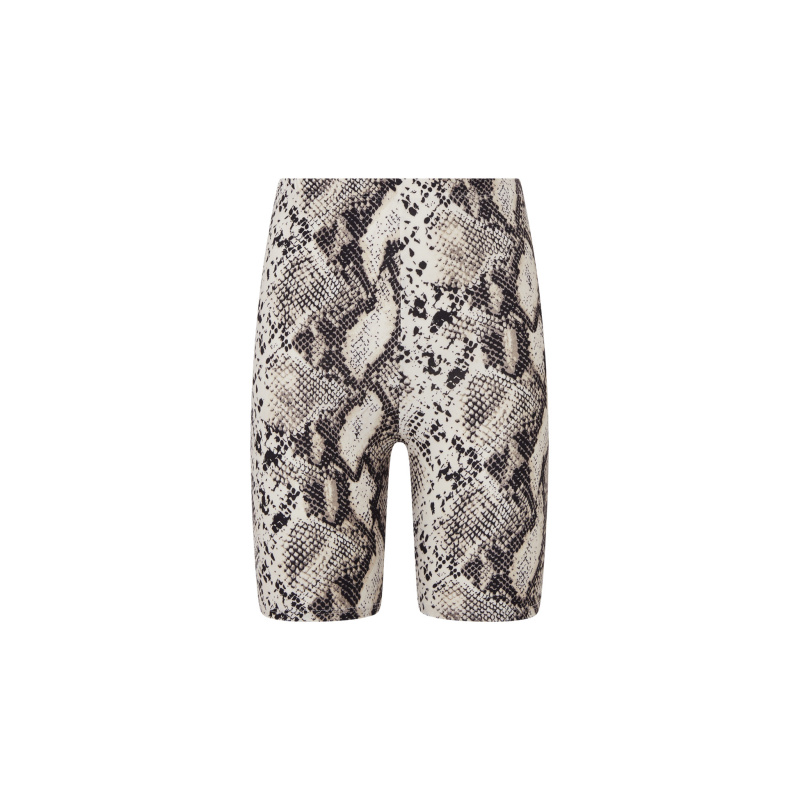 SNAKE PRINT CYCLE SHORTS