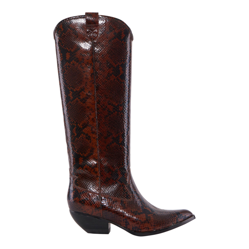 SNAKE PRINT LEATHER TEXAN...