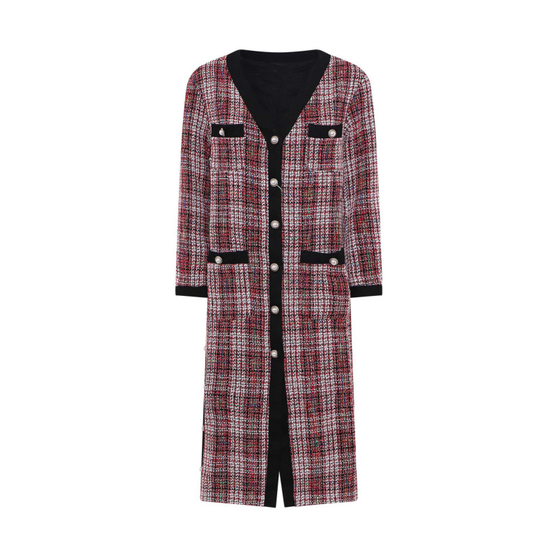 CHECKED COAT WITH BUTTONS