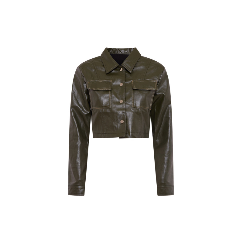 ECO LEATHER CROP JACKET