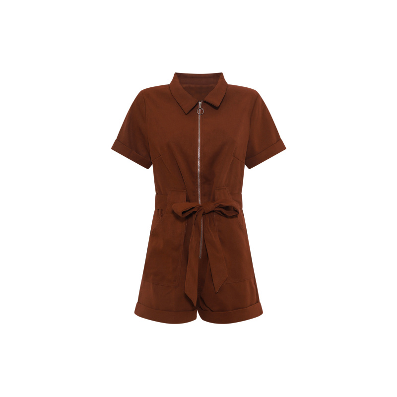 PLAYSUIT IN SUEDE