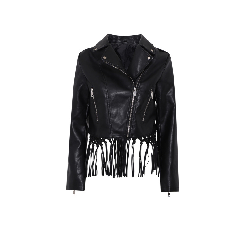 FAUX LEATHER BIKER JACKET...
