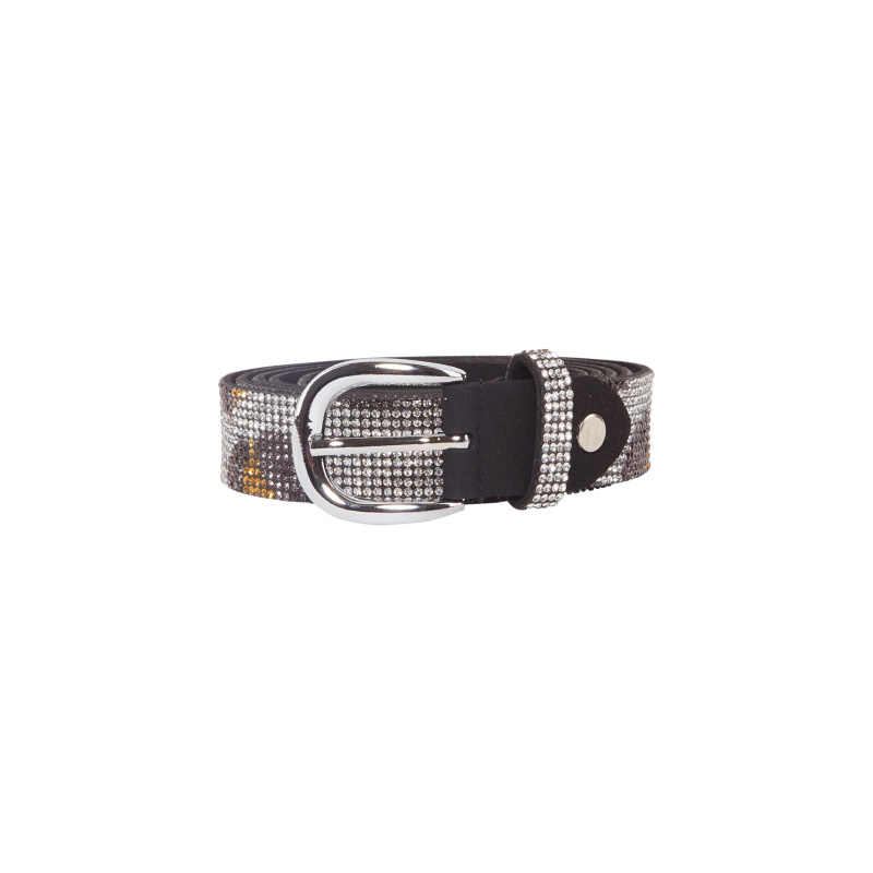 LEO PRINT CRYSTALS BELT