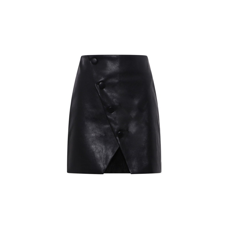 FAUX LEATHER MINI SKIRT...