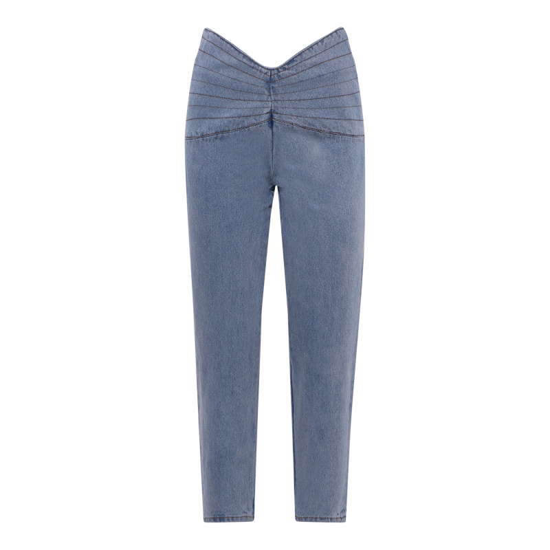 HIGH WAISTED JEANS WITH...