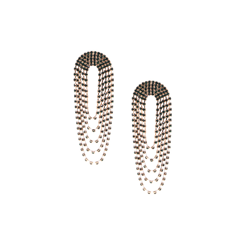 CASCADE EARRINGS WITH CRYSTALS