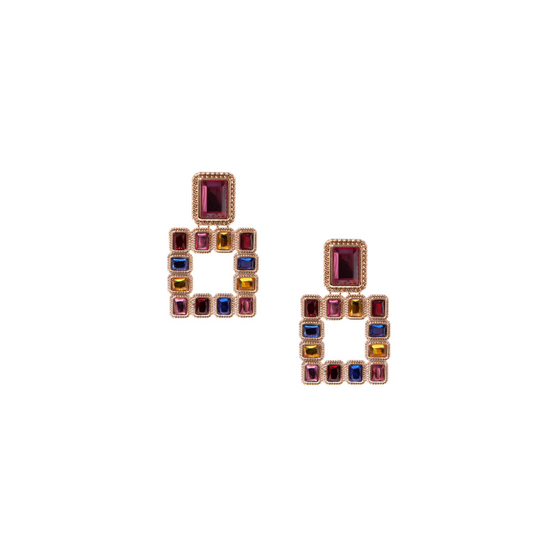 EARRINGS WITH MULTICOLOR...