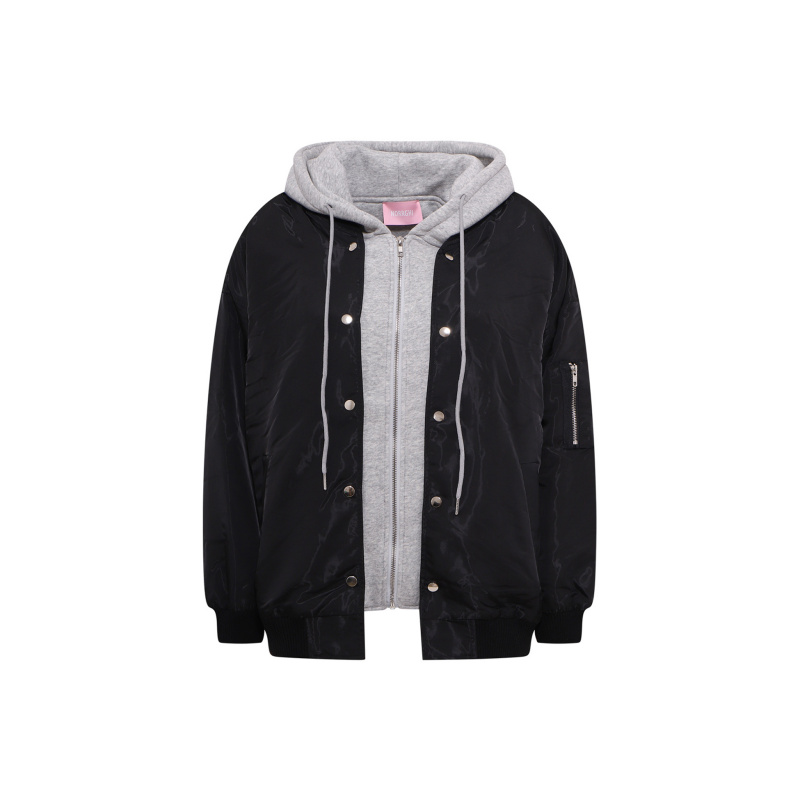 BOMBER JACKET WITH CONTRAST...