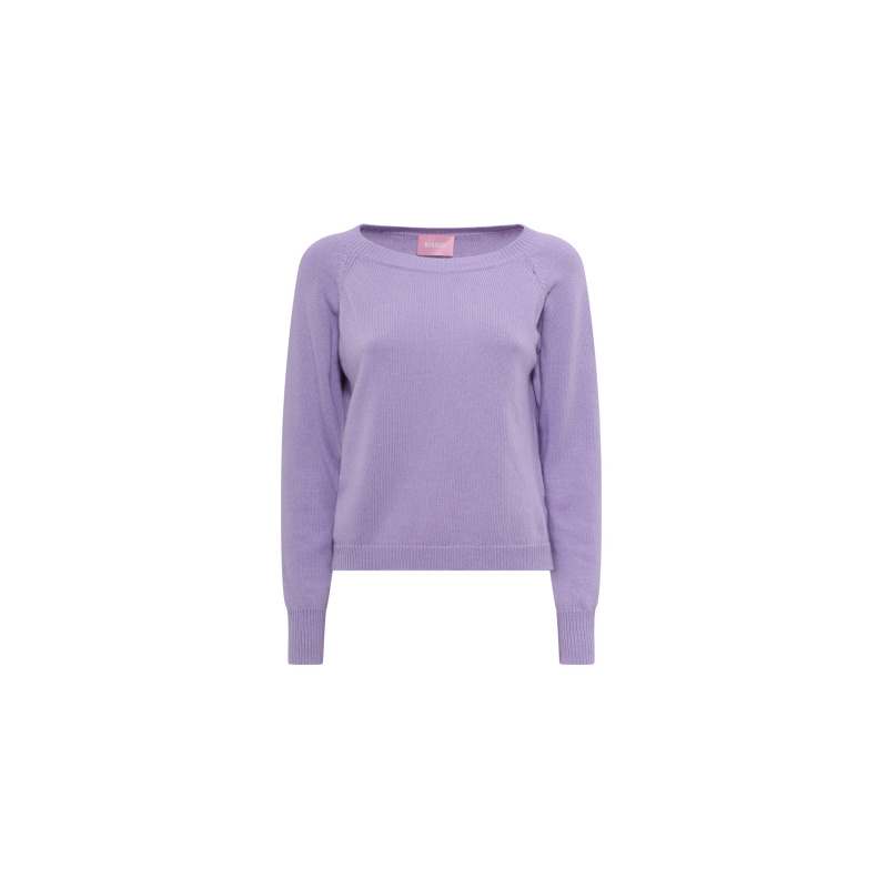 CASHMERE BLEND BASIC SWEATER
