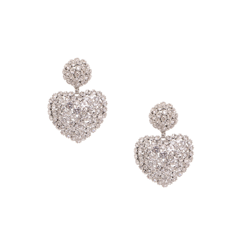 CRYSTALS HEART EARRINGS