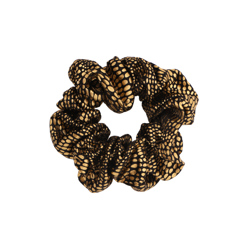 POLKA DOTS LAMINATED SCRUNCHIE