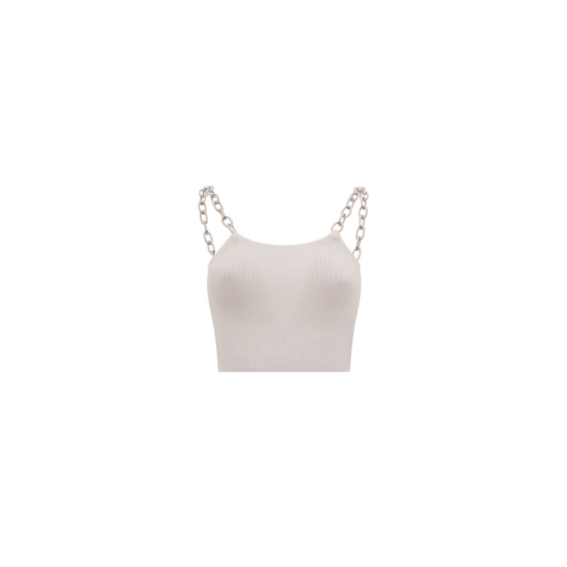 CROP TOP WITH CHAIN STRAPS