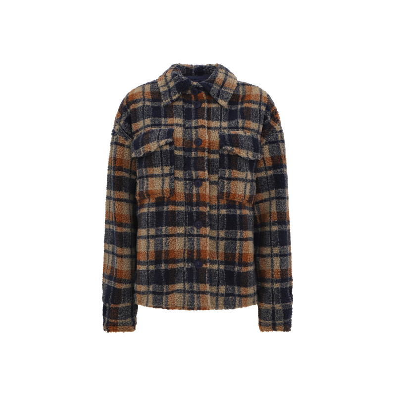 CHECK PRINT FLANNEL JACKET