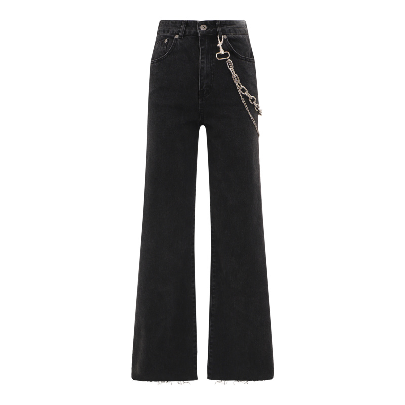 BELL BOTTOM JEANS WITH CHAIN