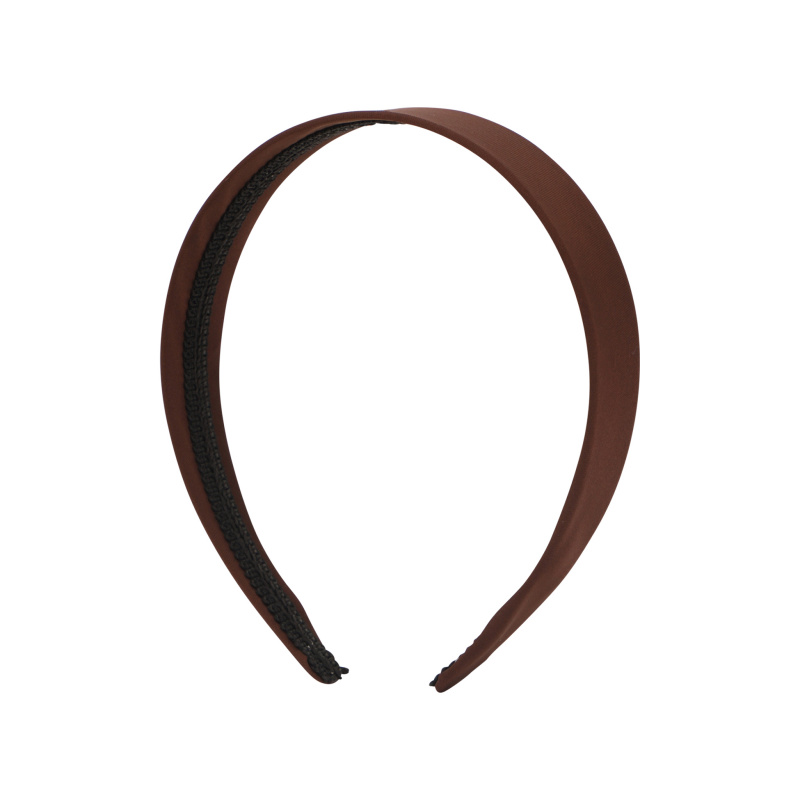 BROWN SATIN HEADBAND