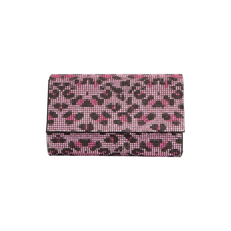 LEO PRINT CRYSTAL CLUTCH