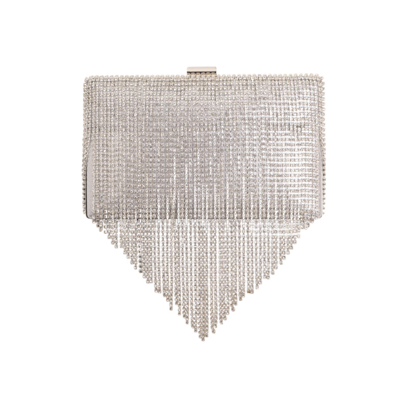 CLUTCH WITH CRYSTALS FRINGES