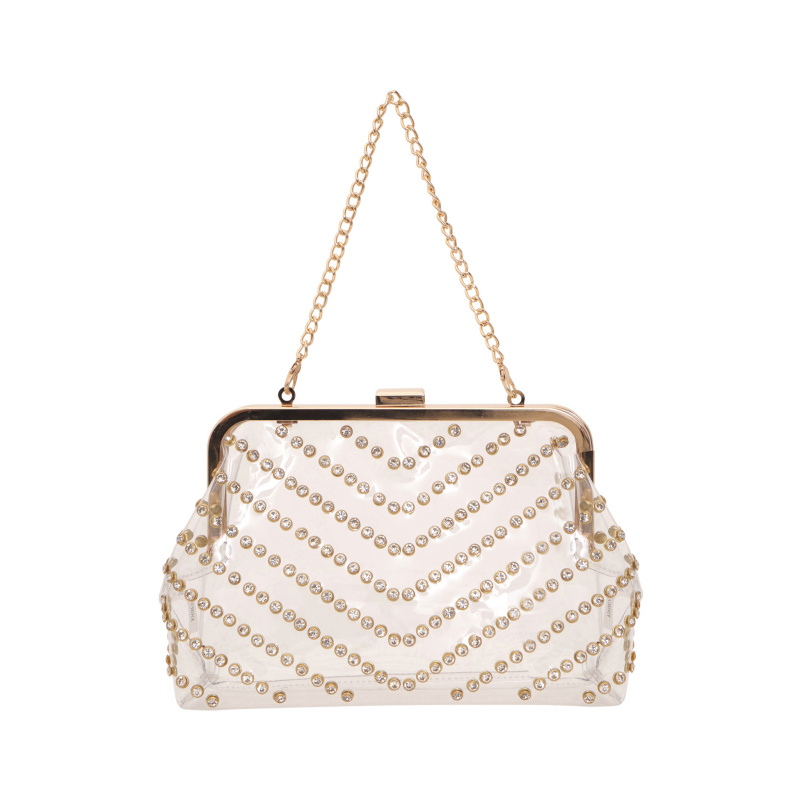 SEE-THROUGH CLUTCH WITH...