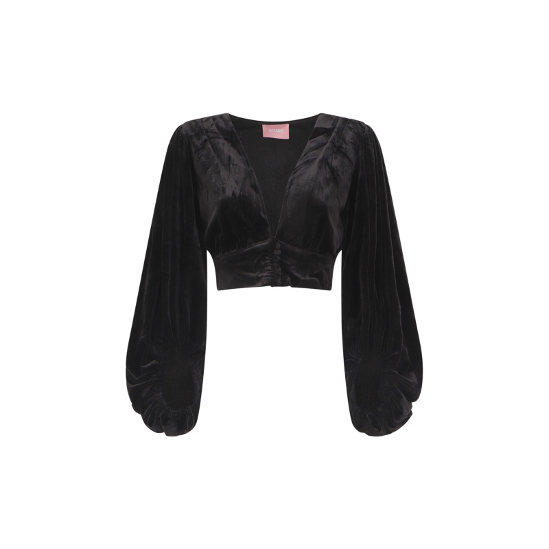 VELVET TOP WITH WIDE SLEEVES