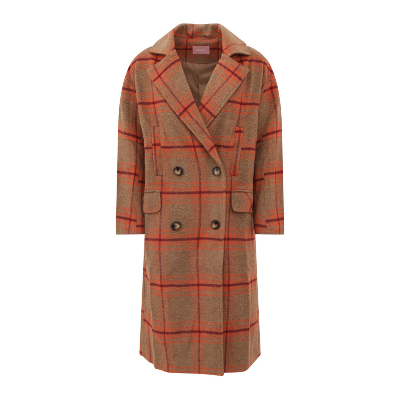 OVERSIZED CHECK PRINT COAT