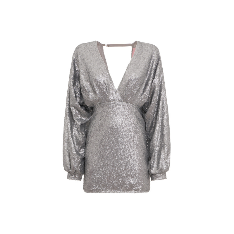 SEQUINS MINI DRESS WITH...