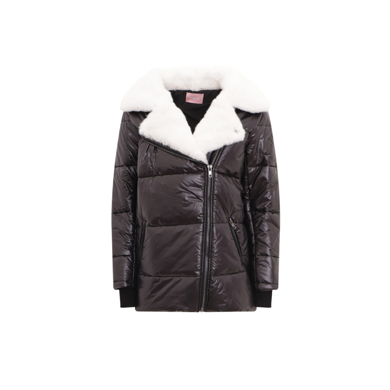 FAUX FUX COLLAR PUFFER JACKET