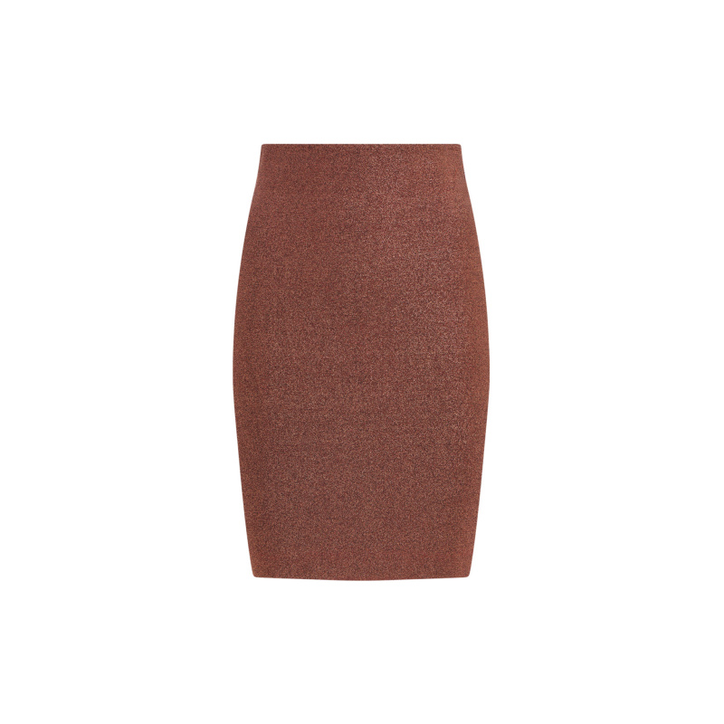 BANDAGE METALLIC MIDI SKIRT