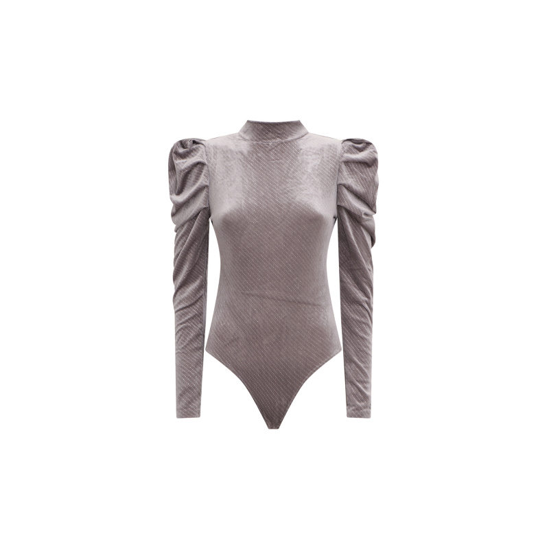 BODYSUIT WITH PUFFED SLEEVES