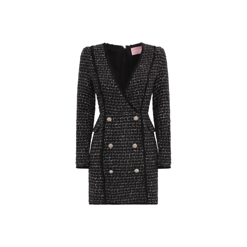 TWEED BLAZER MINI DRESS