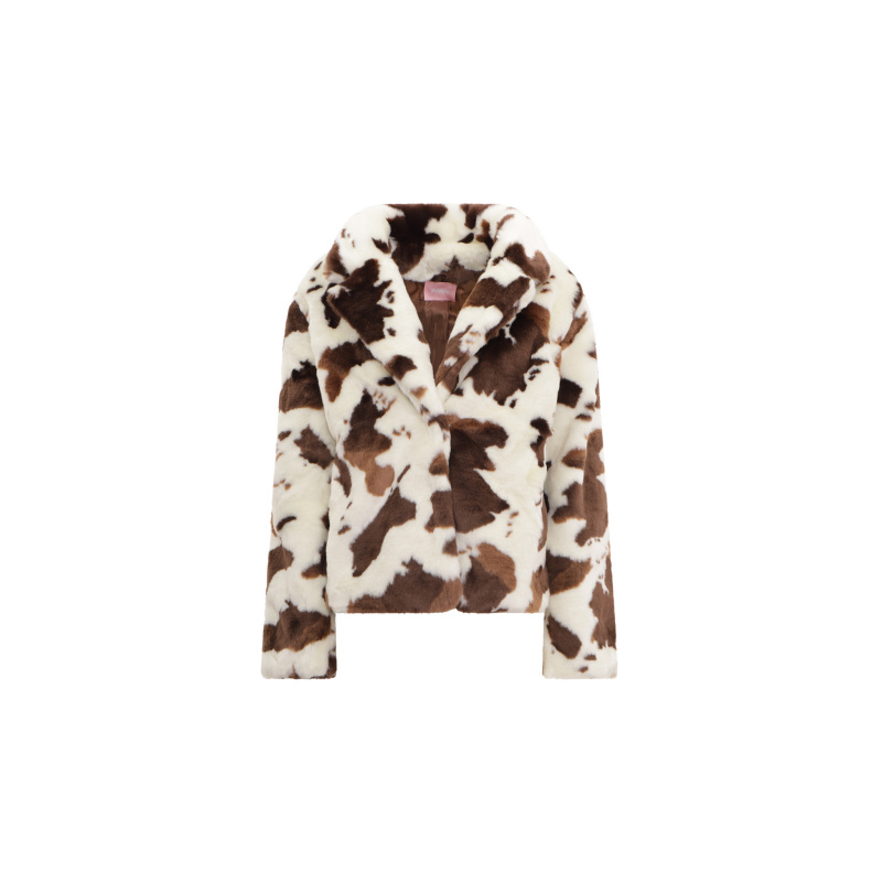 ANIMALIER PRINT FAKE FUR...
