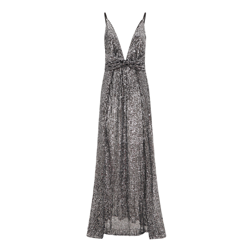 SEQUINS MAXI DRESS WITH SLITS