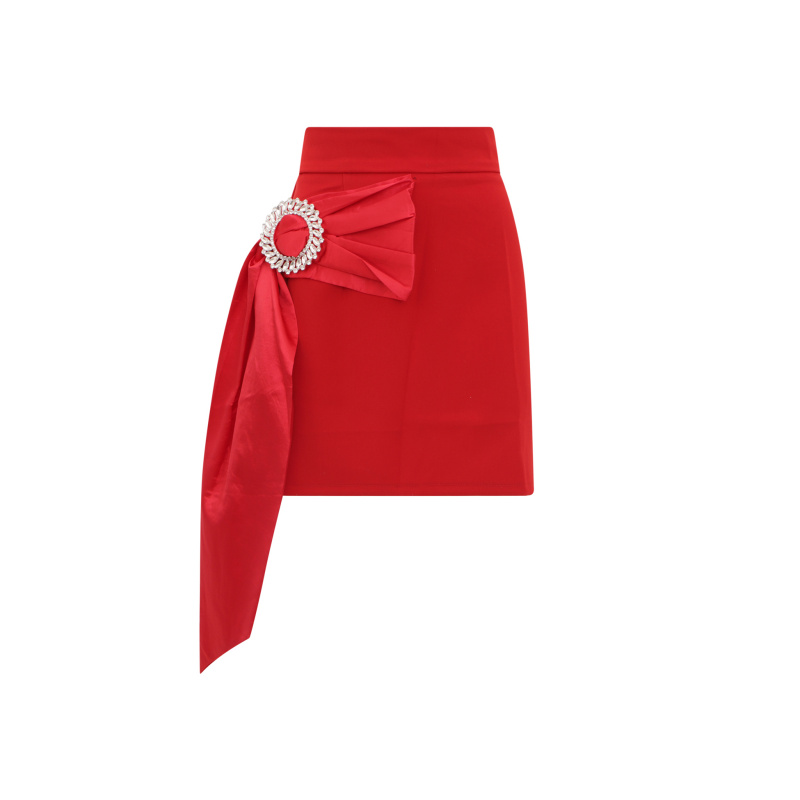 MINI SKIRT WITH CRYSTAL BUCKLE
