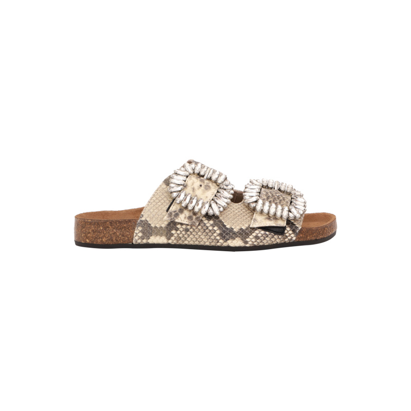 SLIDES WITH CRYSTALS BUCKLES