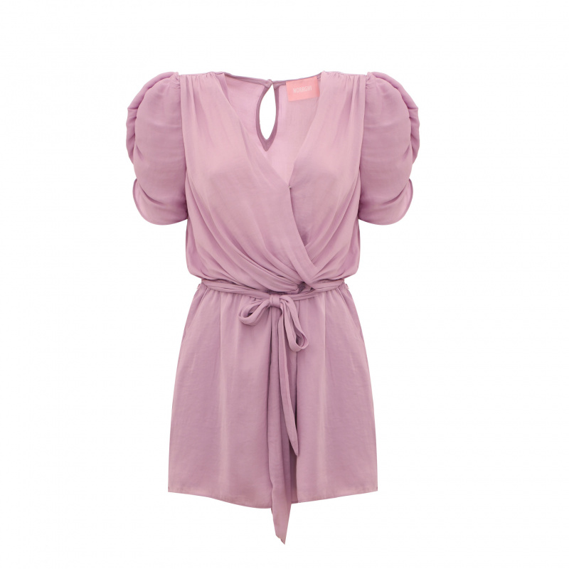 PLAYSUIT WITH PFFED SLEEVES