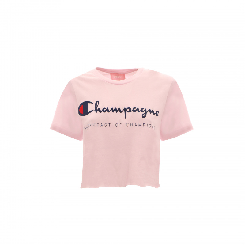 T-SHIRT CROP CHAMPAGNE