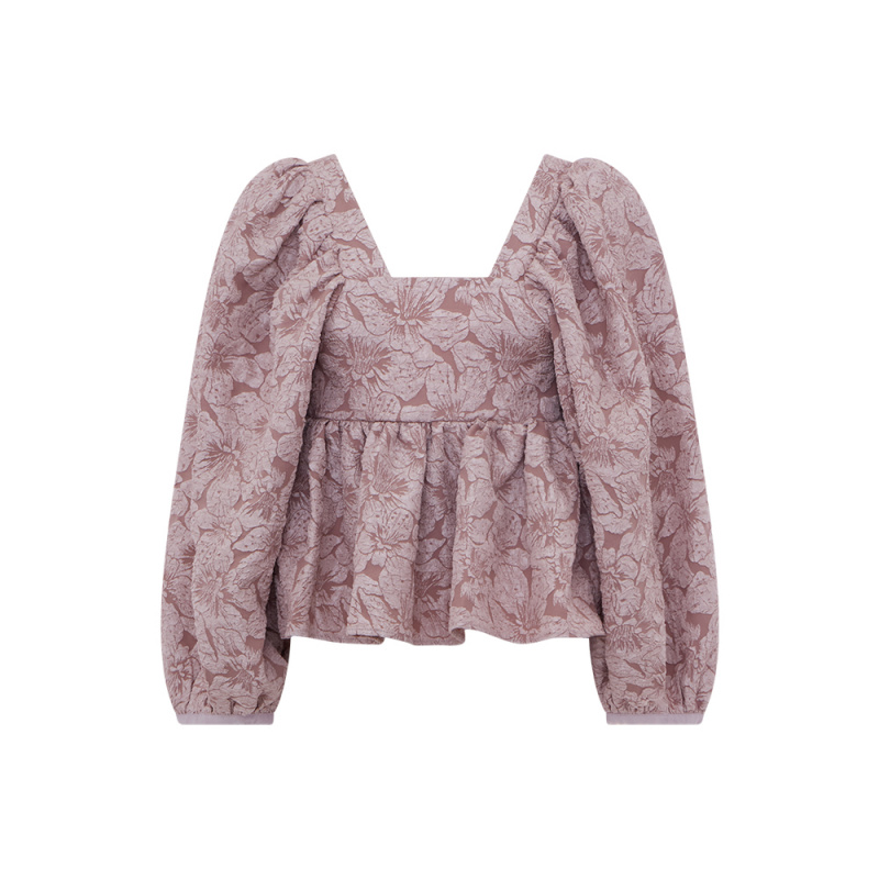 TOP IN JACQUARD FLOREALE