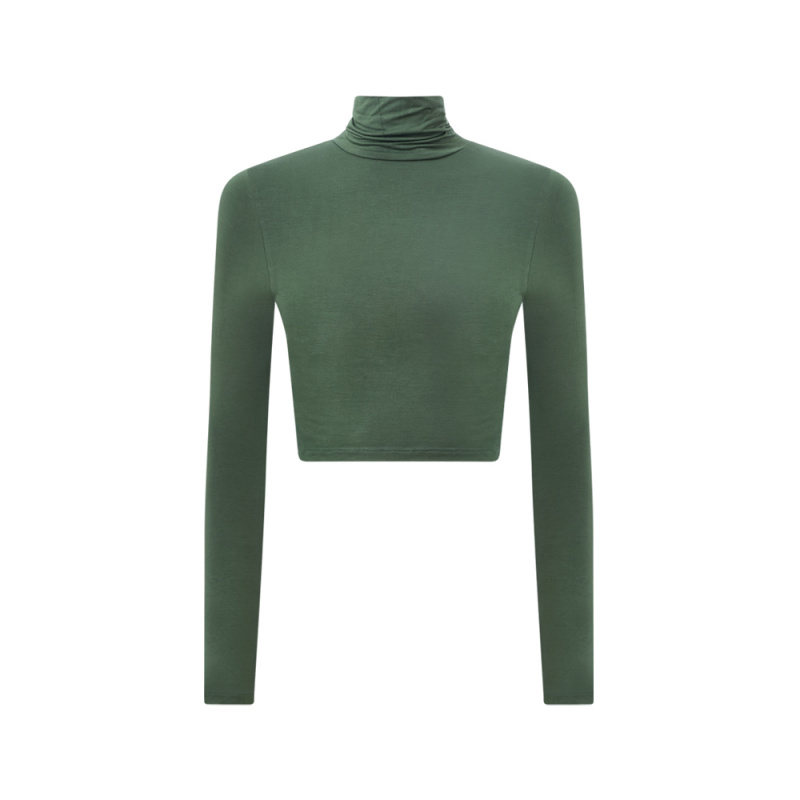 CROPPED TURTLE NECK TOP