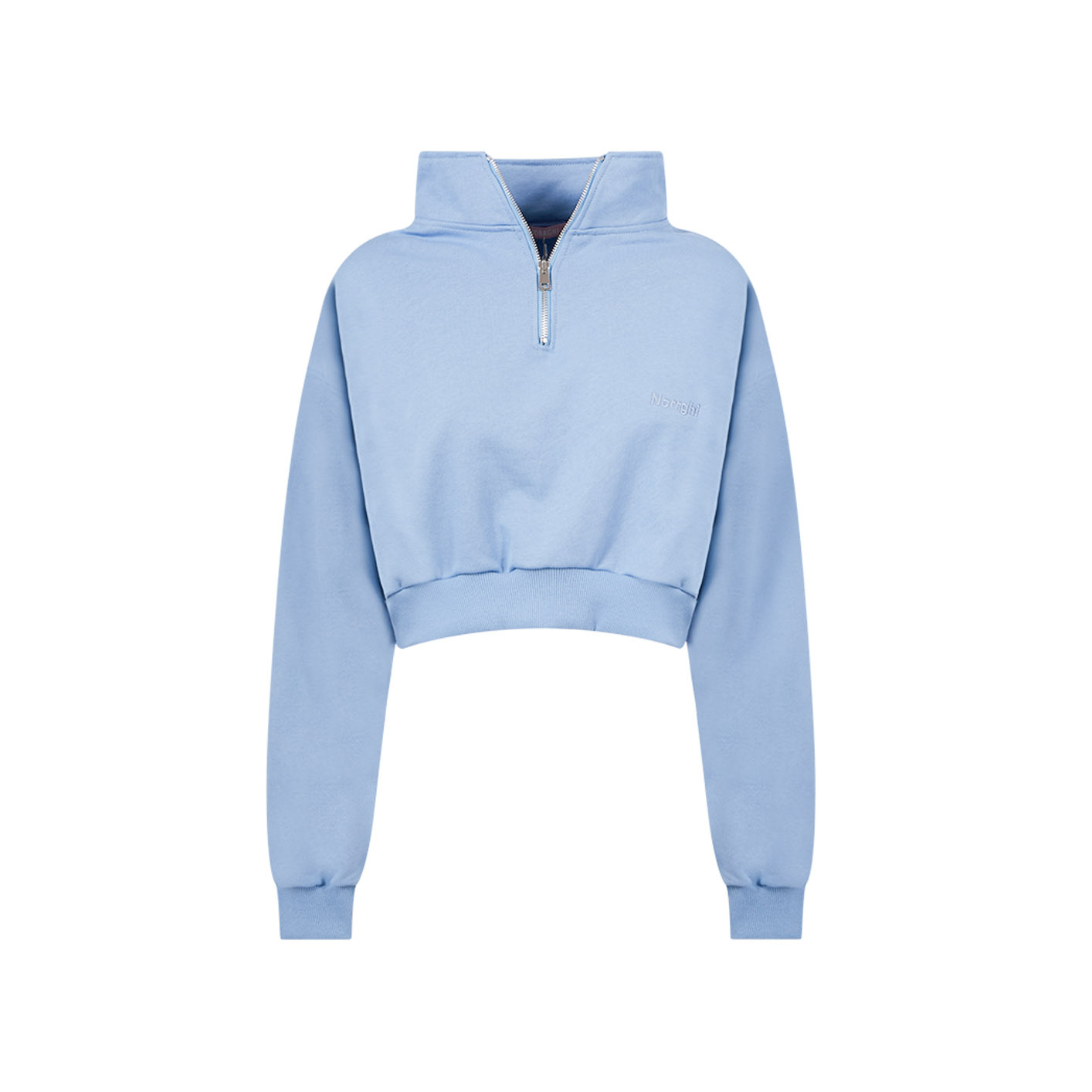 NORRGHI CROPPED SWEATER WITH ZIP