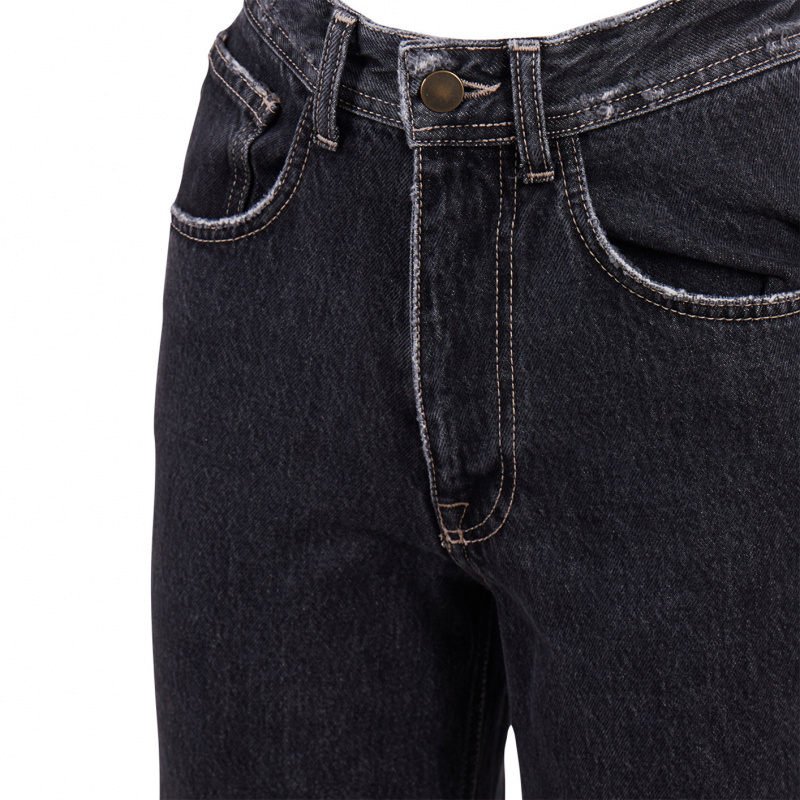 JEANS CROPPED NERO