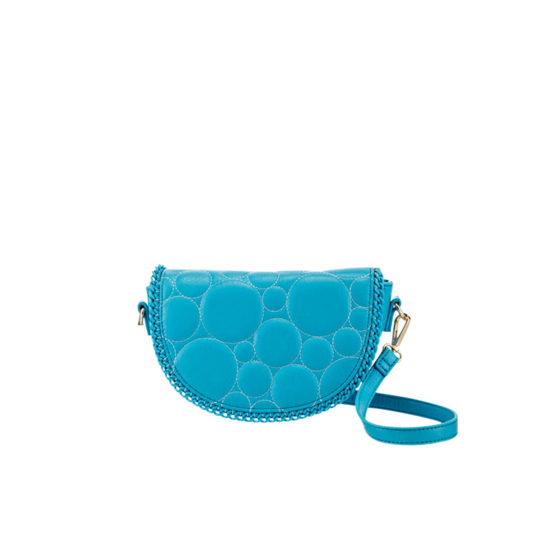 QUILTED FAUX LEATHER BAH