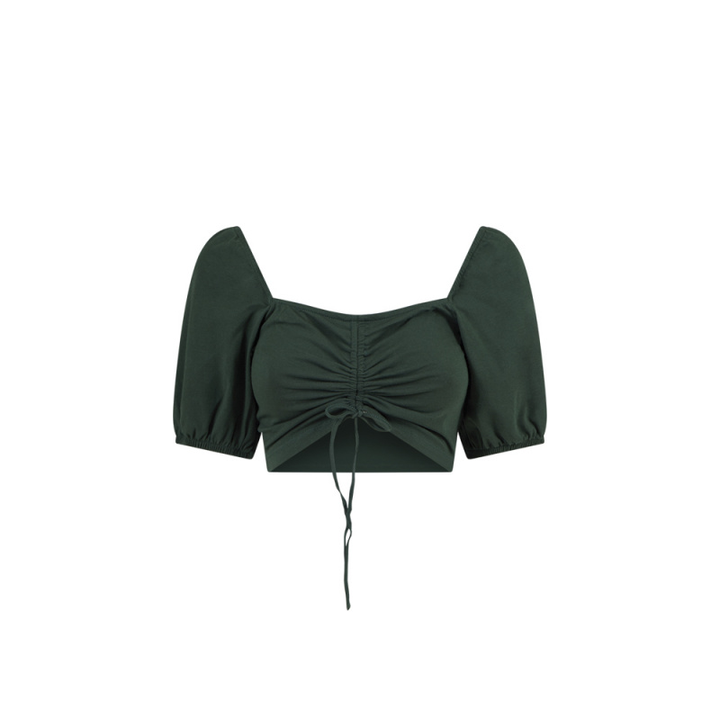 CROP TOP WITH GATHERED DETAIL
