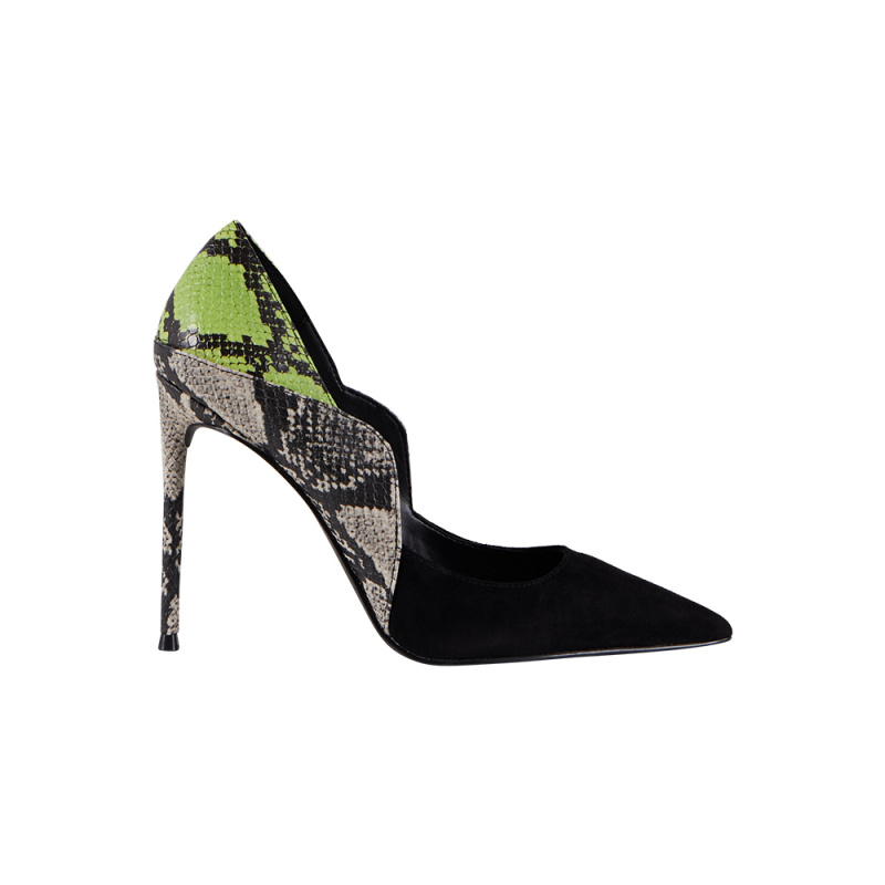 PUMPS WITH SNAKE PRINT