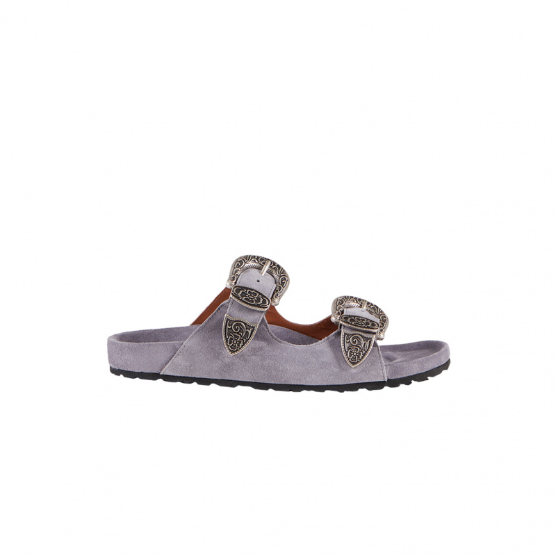 SANDALS WITH CRYSTALS BUCKLE