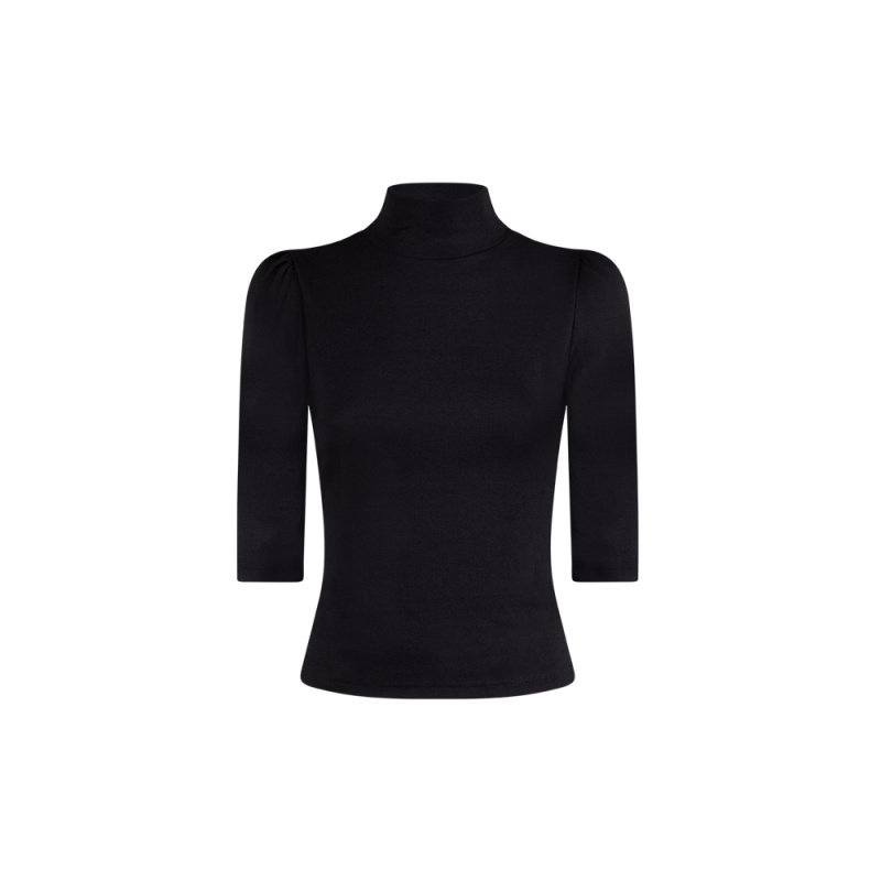 TOP WITH STANDING COLLAR