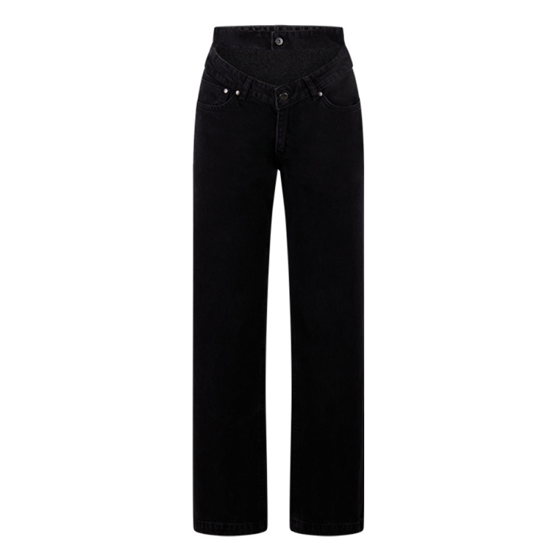 DOUBLE WAISTBAND DAD JEANS
