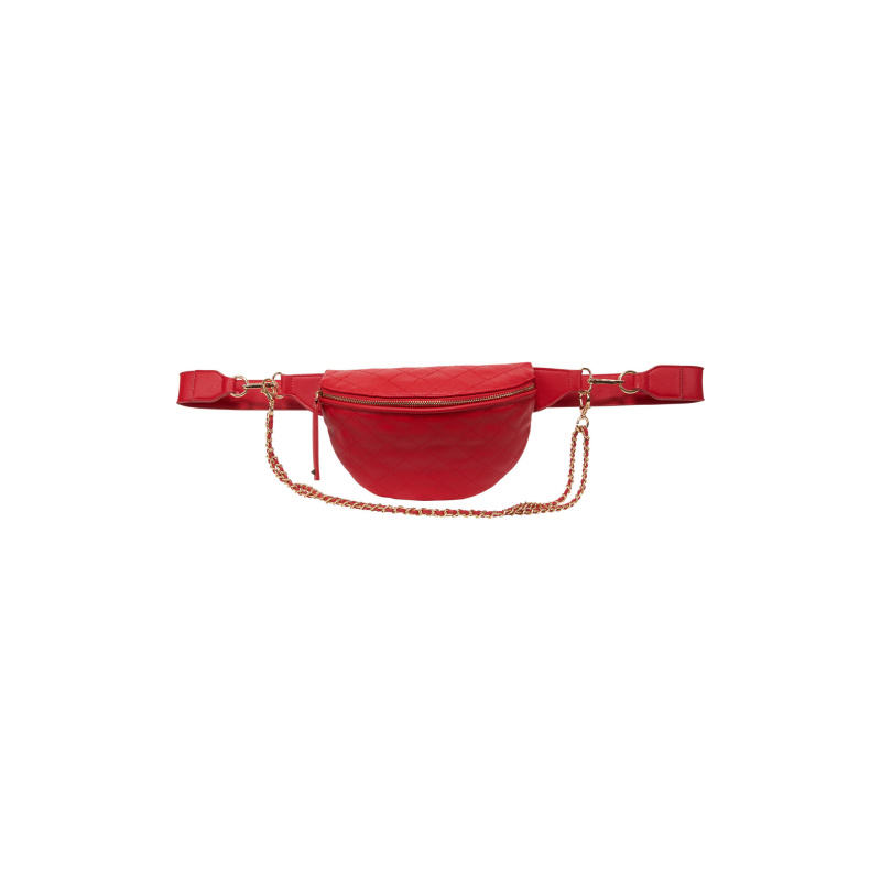 QUILTED FANNY PACK WITH CHAINS