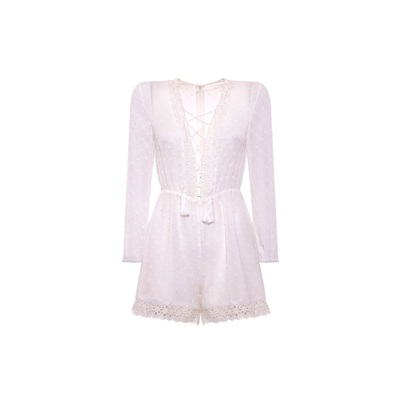PLAYSUIT WITH LACE DETAILS