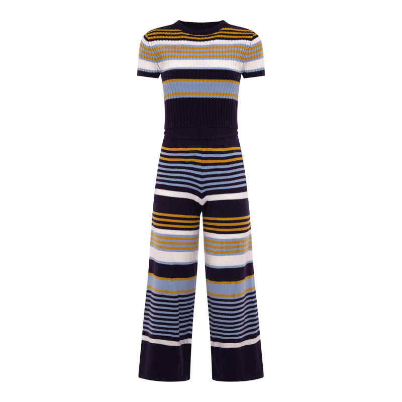 STRIPED KNITTED TWIN-SET